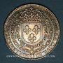 Coins Lorraine. Cité de Metz. Cour de Parlement de Metz. Louis XIII. Jeton argent 1641