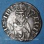 Coins Lorraine. Evêché de Metz. Thierry V de Boppard (1365-1384). Tiercelet (= 1/3 de gros). Metz