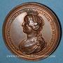 Coins Lorraine. Ferry II, comte de Vaudémont et Islande d'Anjou. Médaille en bronze