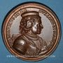 Coins Lorraine. Ferry III (1251-1303) et Marguerite de Navarre. Médaille en bronze