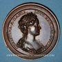 Coins Lorraine. François I (1544-1545) et Christine de Danemark. Médaille en bronze
