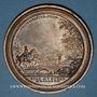 Coins Lorraine. Léopold I. Reconstruction des Ponts et Chaussées. 1727. Médaille en bronze. 63 mm