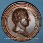 Coins Lorraine. Raoul le Vaillant (1329-1346) et Marie de Blois. Médaille en bronze