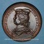 Coins Lorraine. Simon II (1176-1203) et Ide de Vienne. Médaille en bronze