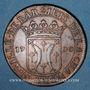 Coins Lorraine. Ville de Bar. Jeton cuivre 1700