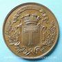 Coins Toul. Concours de tir 1870. Médaille en cuivre. 46 mm. Signée : Desaide