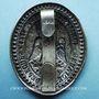 Coins Administration des postes (1852-1870). Plaque pour le Service des dépêches. Bronze argenté