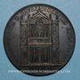 Coins Alexandre VII (1655-1667).  Reconstruction de l'église Santa Maria. Médaille de restitution, bronze
