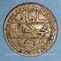 Coins Algérie. Commémoration de la victoire française de 1857. Médaille de propagande. Cuivre. 17 mm.