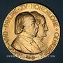 Coins Allemage. Hohenlohe-Öhringen. Noces d'or d'Hugo, duc d'Ujest et de Pauline 1897. Médaille bonze doré
