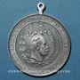Coins Allemagne. 25e anniversaire de la restauration de l'empire, 1895. Médaille étain. 39 mm