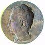 Coins Allemagne. Saxe-Altenbourg. Bernard Lindenau (1780-1854). 1834. Médaille br. uniface coulée. 17,4 cm