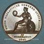 Coins Allemagne. Wiesbaden. Exposition Industrielle. 1846. Médaille cuivre