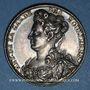 Coins Antoinette du Ligier de la Garde, dame des Houlières. Poète (1638-1694). Médaille argent