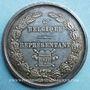 Coins Belgique. Chambre des Représentants (1840). Médaille en argent. 50,4 mm. Gravée par Hart
