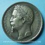 Coins Besançon. Exposition universelle. 1860. Médaille en étain. 50 mm. Gravée par Caqué
