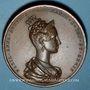 Coins Bohème. Couronnement à Prague de Marie Anne Augusta et de Ferdinand I. 1836. Médaille bronze
