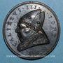 Coins Calixte III (1455-1458). Croisade contre les turcs. Médaille de restitution, bronze