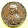 Coins Cardinal de Fleury. Préliminaires du Traité de Vienne 1736. Médaille bronze 54 mm gravée par Dassier