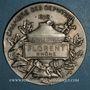 Coins Chambre des députés, 1898. Médaille parlementaire argent. 50 mm.