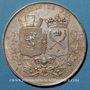 Coins Chemin de fer St Etienne à Lyon 1826, médaille argent 36,5 mm. Tiolier. Poinçon : lampe antique