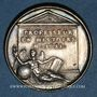 Coins David Blondel, historien (1590-1655), né à Châlons-en-Champagne. Médaille argent gravée par Dassier