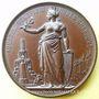 Coins Distribution de l'eau en ville. 1867. Médaille en bronze. 40,6 mm. Gravée par F. Landry