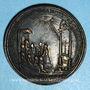 Coins Eugène IV (1431-1447). Canonisation de Saint Nicolas de Tolentino. Médaille de restitution, bronze