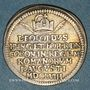 Coins Francfort. Couronnement de Léopold I. 1658. Frappe en argent du demi-ducat