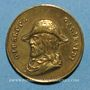 Coins Giuseppe Garibaldi (1807-1882). Médaille laiton