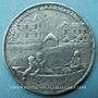 Coins Grande Bretagne. Abdication de Jacques II. 1688. Médaille étain 38 mm