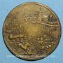 Coins Grande-Bretagne. Bataille du cap Sicié, 1744. Médaille bronze. 38 mm.