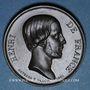 Coins Henri d'Artois, comte de Chambord, dit Henri V. Médaille bronze. 1842