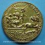 Coins Henri II. Médaille 1552. Bronze doré 54 mm, gravée par Etienne de Laune