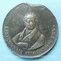 Coins Hommage des lyonnais au général Foy. 1825. Médaille plomb-étain. 55 mm