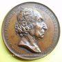Coins Joseph Marie Charles Jacquard (1752-1834). Médaille en cuivre. 42,6 mm. Gravée par L. Mouterde