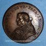 Coins Jules II (1503-1513). Vue de Civitavecchia. Médaille de restitution, bronze