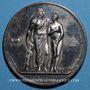 Coins La vaccine. 1819. Médaille argent. 40,9 mm. Gravée par Gayrard et Andrieu
