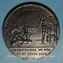 Coins Liberté de la presse. Ordonnance du 27 avril 1827. Médaille en plomb