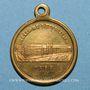 Coins Lille. Concours vocal et instrumental. 1855. Médaille laiton, avec anneau
