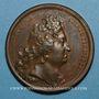 Coins Louis XIV. Avènement du Duc d''Anjou au trône d'Espagne. Médaille bronze 1700
