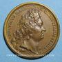 Coins Louis XIV. Bataille de Friedlingen. Médaille bronze 1702