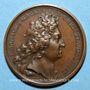 Coins Louis XIV. Bataille de la Marsaille. Médaille bronze 1693