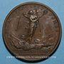 Coins Louis XIV. Bataille de Laufelt. Médaille bronze 1747