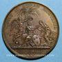 Coins Louis XIV. Bataille de Spire et prise de Landau. Médaille bronze 1703