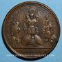 Coins Louis XIV. Combat de Fribourg. Médaille bronze 1644