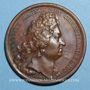 Coins Louis XIV. Edit contre le luxe. Médaille bronze 1700