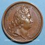 Coins Louis XIV. La constance du Roi. Médaille bronze