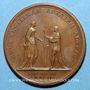 Coins Louis XIV. La majorité du Roi. Médaille bronze 1651