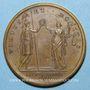 Coins Louis XIV. Paix de Ryswick. Médaille bronze 1678